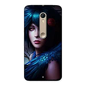 Special Crossed Angel Multicolor Back Case Cover for Motorola Moto X Style