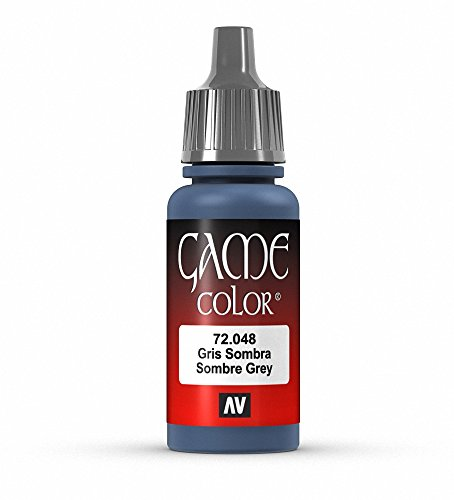 Vallejo Game Color Sombre Grey Paint, 17ml