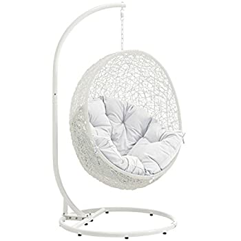 Modway EEI-2273-WHI-WHI Hide Wicker Rattan 