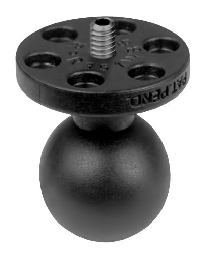 Ram Mount 1-Inch Diameter Ball with 1/4-Inch-20 Stud for Cameras, Video and Camcorders (Black)