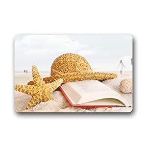 custom beach theme door mats cover non slip machine washable outdoor indoor bathroom. Black Bedroom Furniture Sets. Home Design Ideas