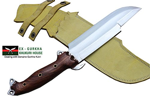 "8"" Blade Predator Survival Machete Military Kukri Knife - Full Tang Hand Forged Khukuri or Khukris Handmade By Ex Gurkha"