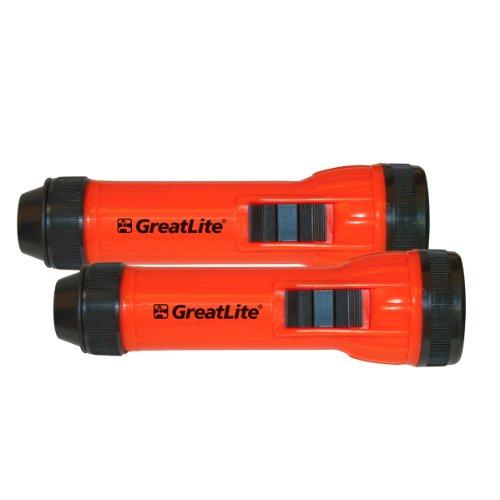 Greatlite® 2 Pc 2D 6 Led High Visibility Flashlight