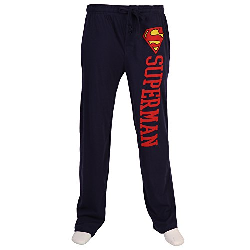 Superman Logo Adult Pajama Pant s- Navy (X-Large) (Superman Pants compare prices)