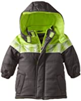 iXtreme Baby Boys' Color Block Printed Puffer Coat