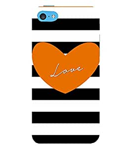 Vizagbeats love in orange heart Back Case Cover for Apple iPhone 4::Apple iPhone 4S