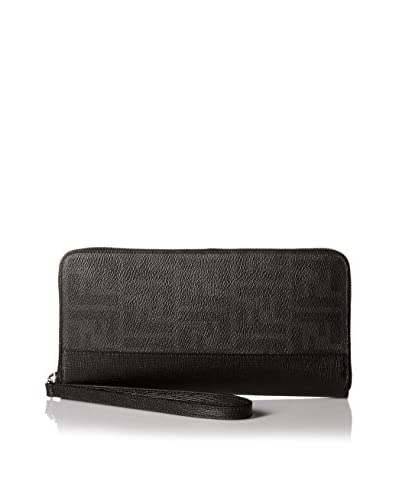 Fendi Men's Zip Around Zucca Wallet, Black