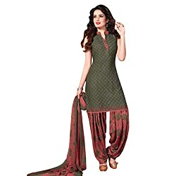 Aagaman Fashion Polyester Unstitched Salwar Suit (TSLCSK5063_Green)