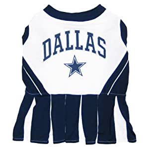 Pets First NFL Dallas Cowboys Dog Cheerleader Dress, Medium
