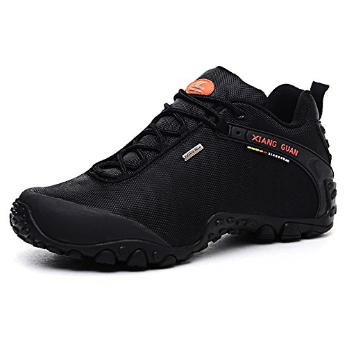 XIANG GUAN Outdoor Scarpe da escursionismo impermeabili basso-top sportive scarpe running calzature uomo 81283 Nero EU 41