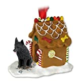 SCHIPPERKE DOG GINGERBREAD HOUSE Christmas Ornament NEW 71