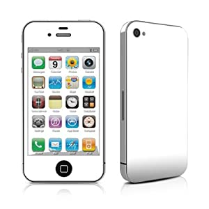 Solid State White Design Protective Skin Decal Sticker for Apple iPhone 4 16GB 32GB-