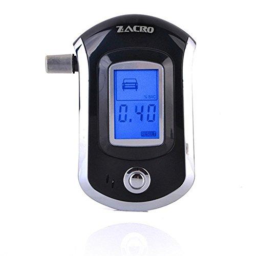 Alkoholtester, Professionelle Atemalkohol-Tester mit Hohe Präzision Sensor und LCD Display Digital,Breathalyzer mit 10 Mundstück