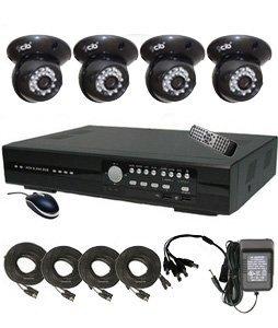 CIB R401W500G8401 4CH Network Security Surveillance DVR w/ Four CCD Indoor Do...