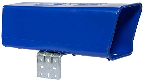Plastic-Newspaper-Delivery-Tube-Box-Receptacle-Mounting-Bracket-Blue
