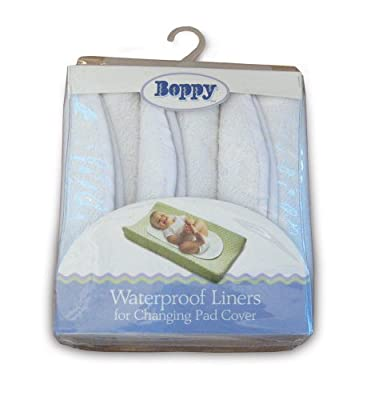Boppy Changing Pad Liners, 3 Count, White