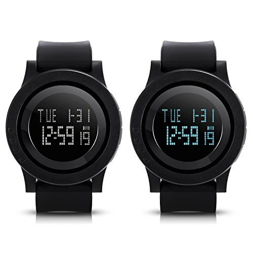Hiwatch Mens Digital Watch Black Waterproof Sport Wrist ...