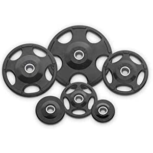 Buy Hampton Fitness 255 lb International Olympic Urethane Grip Plate Set with Spring Collars by Hampton