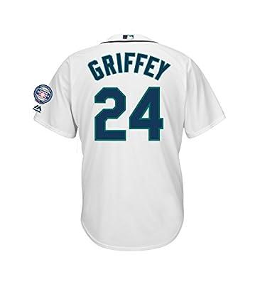 Ken Griffey Jr. Seattle Mariners #24 Men's Hall of Fame Cooperstown Jersey