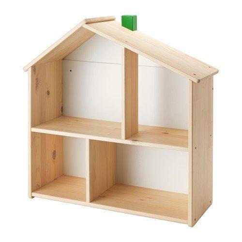 IKEA-FLISAT-PuppenhausWandregal-aus-Massivholz