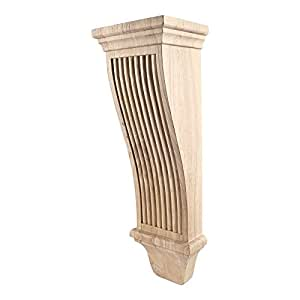 "One Pair- Large Renaissance Reeded Corbels- 7"" x 6"" x 22"""