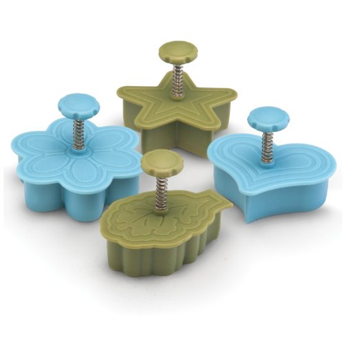 Paula Deen Signature Kitchen Tools 4-Piece Pie Press Cutters Set, Heart, Star, Daisy and Leaf (Paula Deen Pie compare prices)