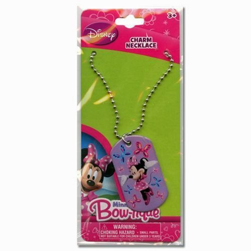 Disney Minnie Mouse Bow-tique Metal Dogtag Charm Necklace