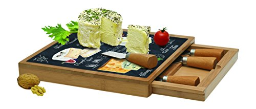 JD Diffusion 891WOCH World of Cheese Plateau Fromage avec Tiroir Multicolore