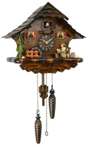 クォーツ式鳩時計 ドイツ森の時計 木こりの休憩493QM
