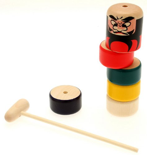 Daruma Otoshi Japanese Folk Craft Game - 1