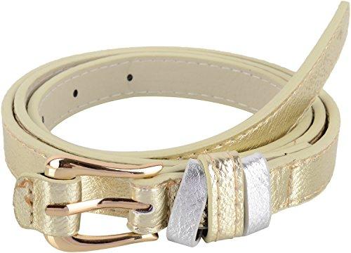 SRI Women's Belt (Gold, Medium)