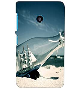 NOKIA LUMIA 530 DUAL BOTTLE SHIP Back Cover by PRINTSWAG