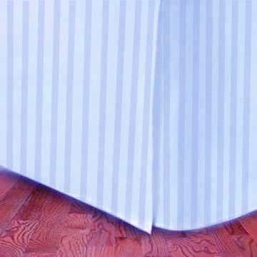 Marrikas (Tm) 1500 Class Microfiber Twin Extra Long Bed Skirt Stripe Blue front-836513