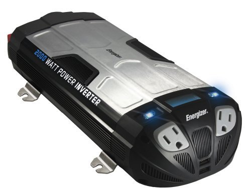 Energizer 2000 Watt Power Inverter Converts 12V Dc From Car'S Battery To 120 Volt Ac With 2 Usb Ports 2.1A Shared Compatible With Ipad Iphone Size: 2000-Watt