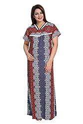 Vimal Fashion Cotton Multi Colour Printed Night Wear / Nightgown / Women Sleepwear / Womans Pyjamas (VF041)