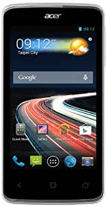 Acer Liquid Z4 Duo Smartphone débloqué 4 pouces 4 Go Double SIM Android Jelly Bean Blanc