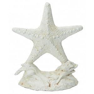 Whitewash Cast Iron Starfish Door Stop 11