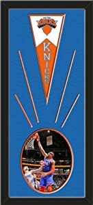 New York Knicks Wool Felt Mini Pennant & Amare Stoudemire Action Photo - Framed... by Art and More, Davenport, IA