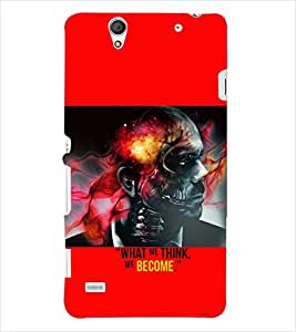 PRINTSWAG SKULL MAN Designer Back Cover Case for SONY XPERIA C4 DUAL