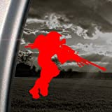 Halo 3 Red Decal Spartan Sniper PC Xbox 360 Car Red Sticker