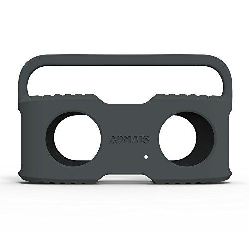 Aomais-Sport-Bluetooth-Lautsprecher-Sling-Cover-Soft-Cover-CaseSchutzbox-Abdeckung-Lautsprecher-Schutzhlle-Grau