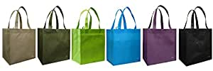 Reusable Grocery Tote Bag 6 Pack Combo