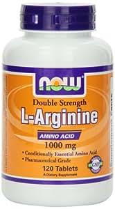 L-arginine 1000 mg - 120 comprimes - Now foods