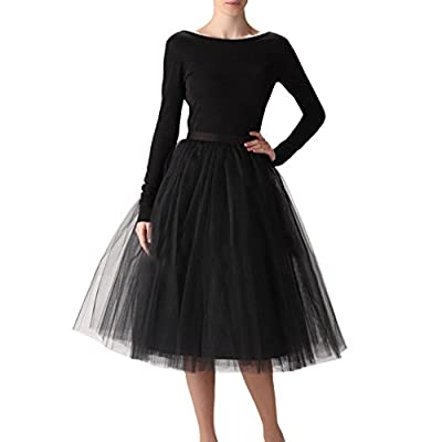 Wedding Planning Women's A Line Short Knee Length Tutu Tulle Prom Party Skirt