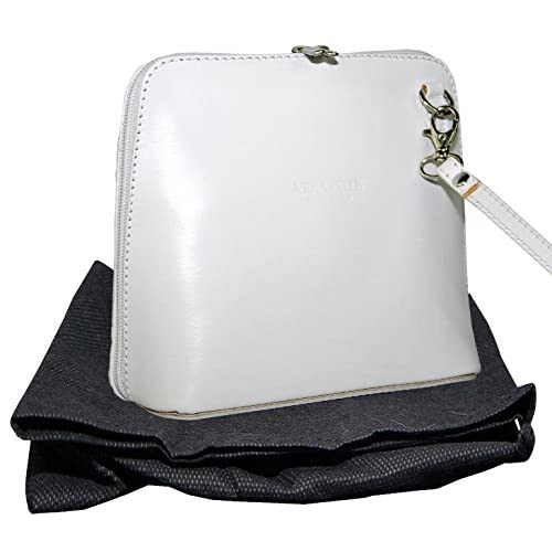 Italian Leather, Small Micro Cross Body Bag or Shoulder Bag Handbag. Includes a Protective Dust Bag.