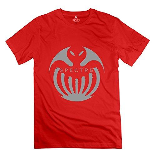 Men's Spectre 007 Logo O-neck Tee Size S Red