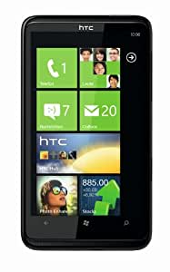HTC HD7 Smartphone (10,9 cm (4,3 Zoll) Touchscreen, Windows Phone 7 OS, 5MP Kamera, GPS, Dolby Mobile, 8 GB interner Speicher, ohne Branding) schwarz
