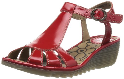Fly London Womens Oily T-Bar P500384018 Red 3 UK, 36 EU