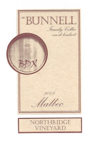 2009 The Bunnell Family Cellar Northridge Vineyard Wahluke Slope Malbec 750 Ml