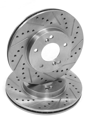 2 Day Brakes Front Performance Cross Drilled and Slotted Brake Rotors